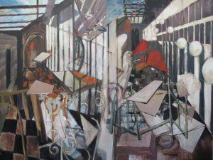 """Angela Fewer, """"Multi - Ways"""" Diptych 2010. each panel 160 x 114 cm"""