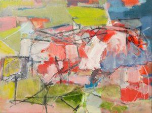 "Joseph Keating ""Bolustoboola"" 24 x 18, oil, oil pastel, charcoal on canvas"