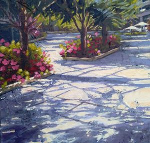 "Dorothy O'Riordan, ""Afternoon Shade"" Oil on canvas"