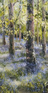 "Mark Eldred, ""Killarney Bluebells"" Oil on Board"