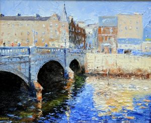 "Mark Eldred, ""Patrick's Bridge"" Oil on Board"