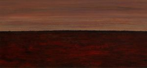 "Maurice Desmond, ""Flanders Fields VI"" Acrylic on Board 14 x 27.5cm"