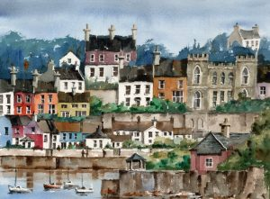 "Val Byrne, ""Kinsale Harbour"" Watercolour"