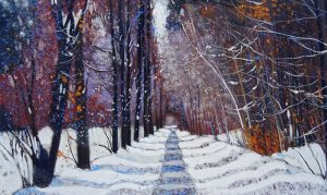 "Victor Richardson, ""Early Snow"" Pastel on Paper"