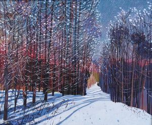 "Victor Richardson, ""Winter Gloaming"" Oil on Canvas"