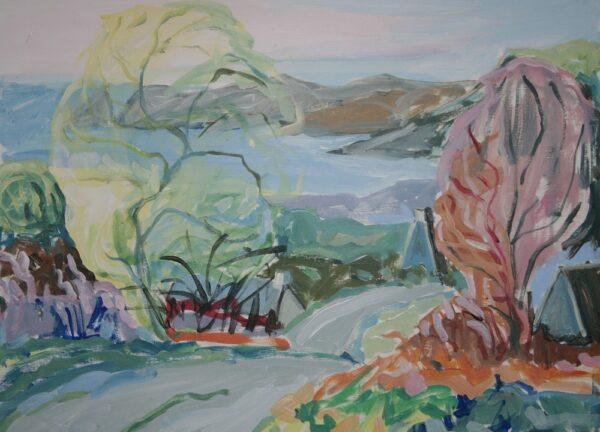 Anastasia O Donoghue Healy, West Cork Morning, acrylic on paper, 29x39cm,2019,€650
