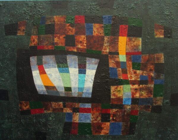 Tim Goulding Anthem, acrylic on canvas, 100 x 130 cms, 5,800