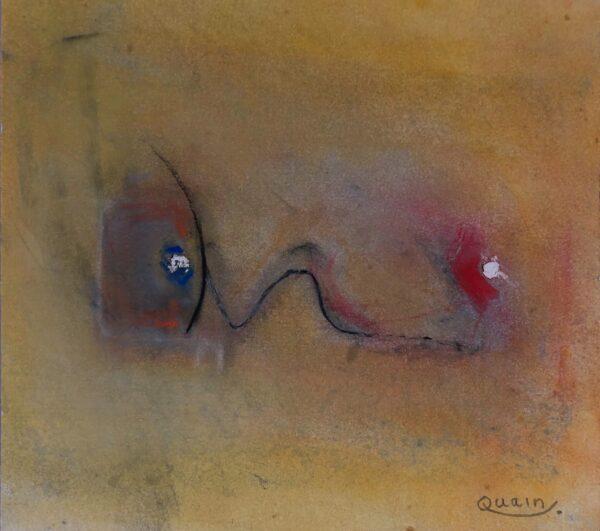 Charlo Quain, Beach Scene, Oil on Paper, 17 x 19cm, €185