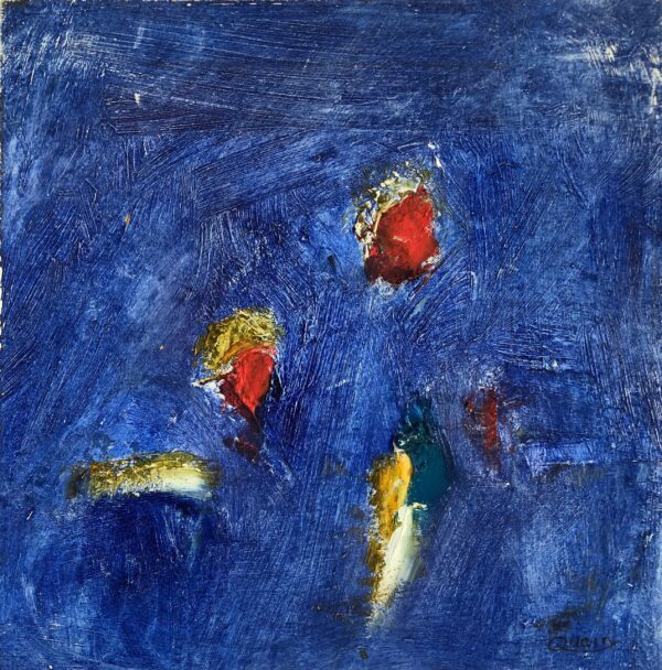 Charlo Quain, Frolic in Whiting Bay I, Unframed Oil on Panel, 17.5 x 17.5cm, €150