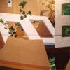 Deirdre Frost, Beginnings, 2 way diptych (2), oil on panel,218cm x 109cm €1400 shop