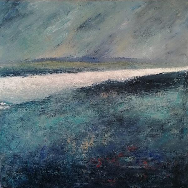 Dee Peters Estuary Oil on canvas €2850 100x100cm 2020