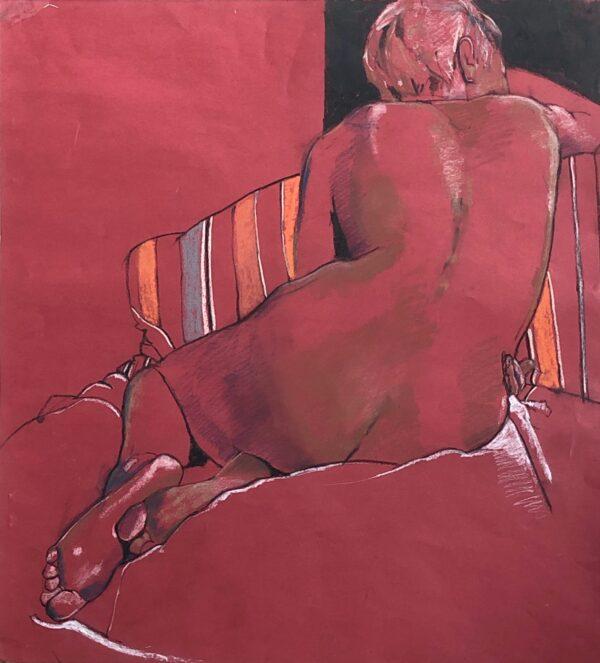 Eileen Healy, Back, Unframed, Pastel on Paper, 55 x 50cm, €450