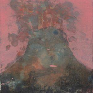 Hanneke van Ryswyk, Mynydd IV, acrylic on wood panel, 20cm x 15xm