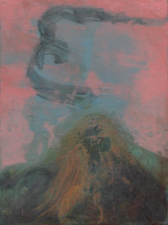 Hanneke van Ryswyk, Mynydd X, acrylic on wood panel, 20cm x 15cm
