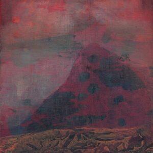 Hanneke van Ryswyk, The island transition, acrylic on wood panel, 20cm x 15xm