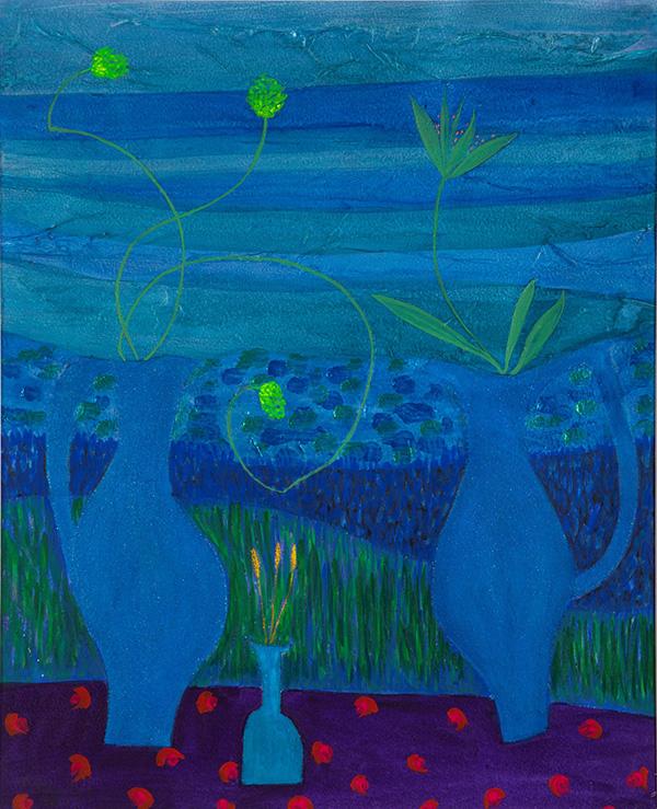 Jane O'Malley - Still Life by the Sea. Acrylic, gouache & collage 200 34.5x35.5 2019