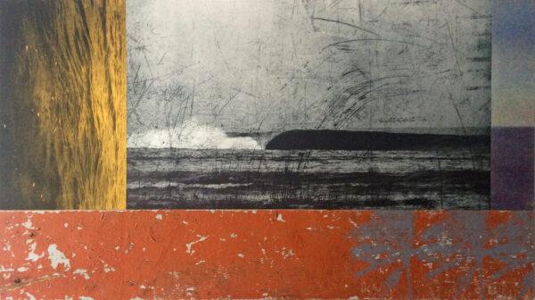 Johnny Bugler, seascape IV, mixed-media, €670 46 x 82 cm 2021