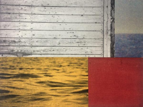 Johnny Bugler, seascape V, mixed-media, €470 29 x 39 cm 2021