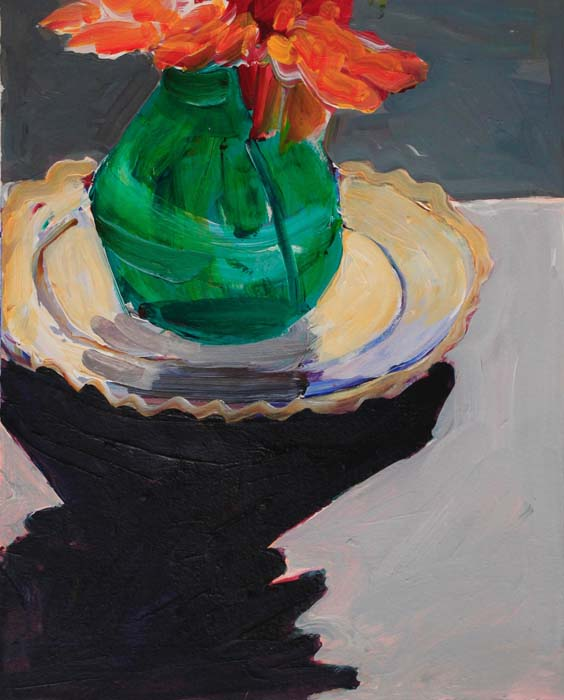Katherine-Boucher-Beug-Late-Dahlia-acrylic-on-paper-€1100