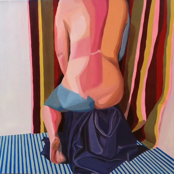 Stephen Doyle Ashley Oil, Mixed media on canvas 1800 09 x 90 cm