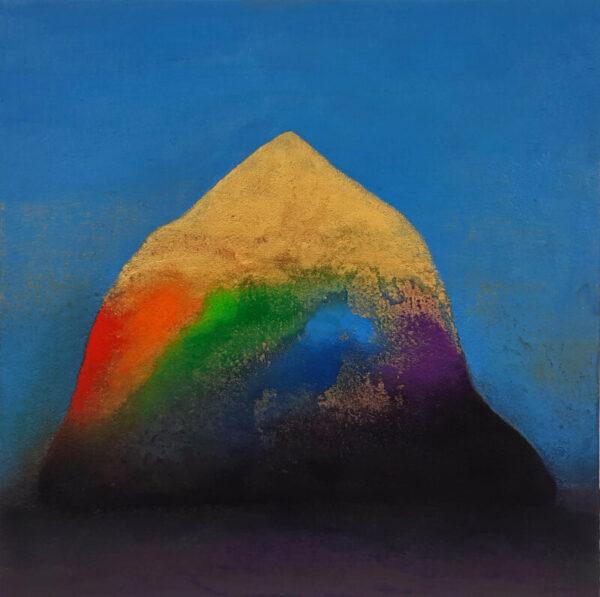 Tom ClimentMountain of Light Oil, plaster & sand on board, 42x42 cm, €16002021