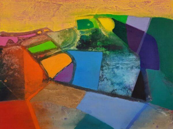 Tom Climent,Sea Lough Oil, plaster & sand on board, 61x46 cm, €2300 2021
