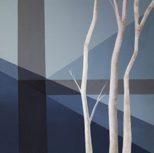 """Clare Lee, """"Trees"""" Acrylic on Canvas"""